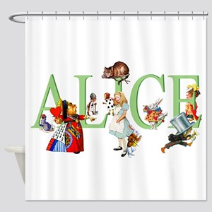 ALICE AND FRIENDS Shower Curtain