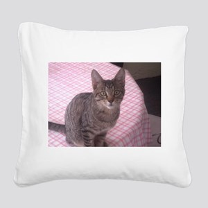 Beautiful Tabby Square Canvas Pillow