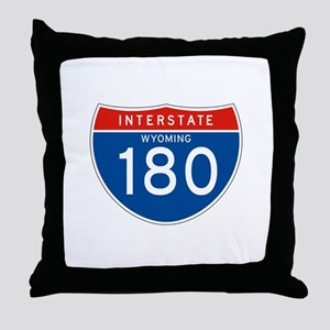 Interstate 180 - WY Throw Pillow