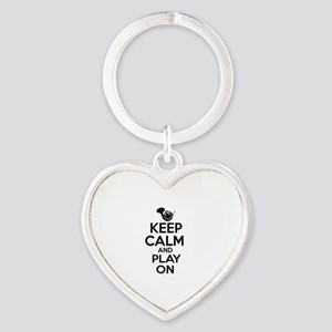 French Horn lover designs Heart Keychain