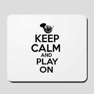 French Horn lover designs Mousepad