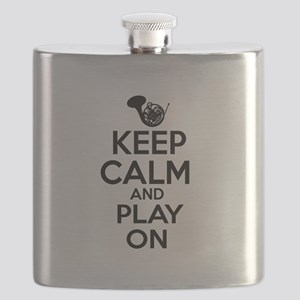 French Horn lover designs Flask