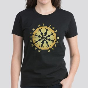 Namaste at the Beach Sand Dollar Yoga Medi T-Shirt