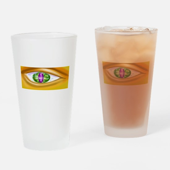 Gold faced eye Drinking Glass