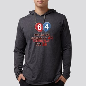 64 Mens Hooded Shirt