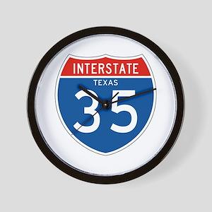 Interstate 35 - TX Wall Clock