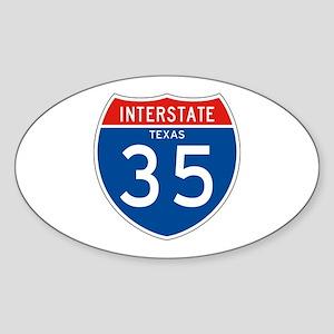 Interstate 35 - TX Oval Sticker
