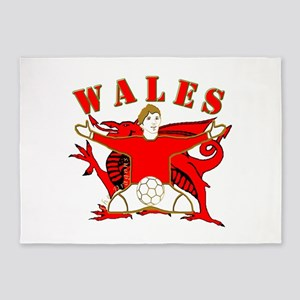 Wales football celebration 5'x7'Area Rug