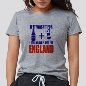 Fun England Football supp Womens Tri-blend T-Shirt