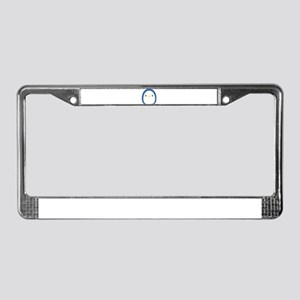 Roly Poly Penguin License Plate Frame
