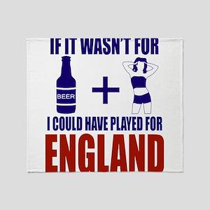 Fun England Football supporter tee Throw Blanket