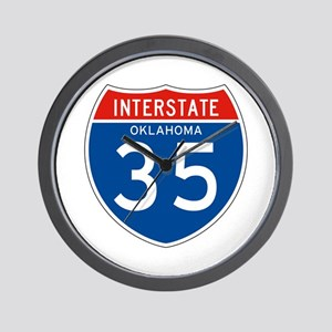 Interstate 35 - OK Wall Clock