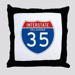 Interstate 35 - OK Throw Pillow
