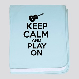 Guitar lover designs baby blanket