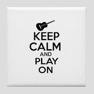 Guitar lover designs Tile Coaster