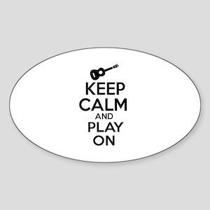 Ukulele lover designs Sticker (Oval)