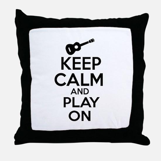 Ukulele lover designs Throw Pillow