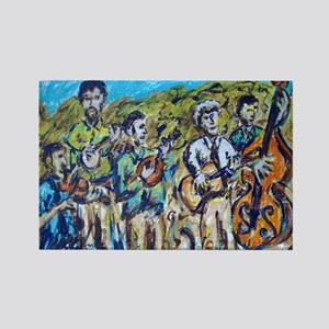 Del McCoury Painting Rectangle Magnet