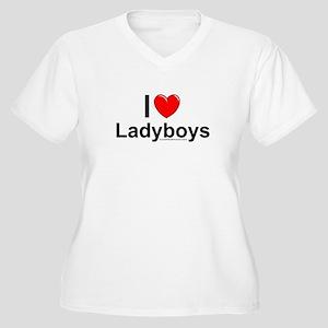 Ladyboys Women's Plus Size V-Neck T-Shirt