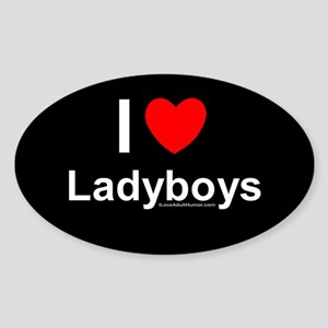 Ladyboys Sticker (Oval)