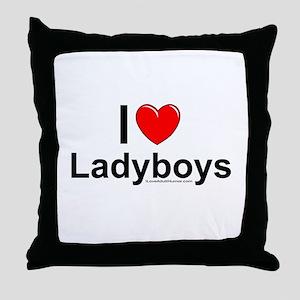 Ladyboys Throw Pillow