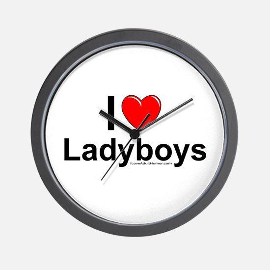 Ladyboys Wall Clock