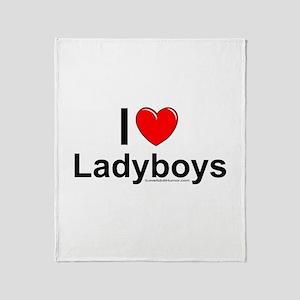 Ladyboys Throw Blanket