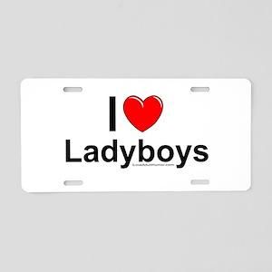 Ladyboys Aluminum License Plate