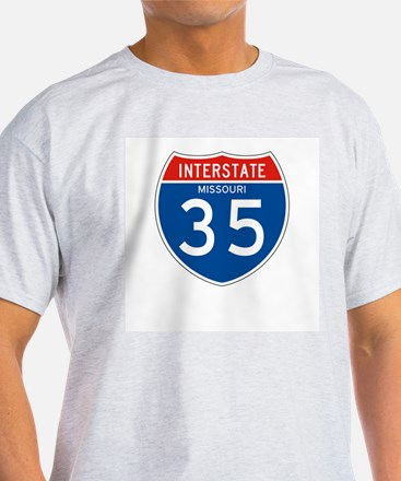 Interstate 35 - MO Ash Grey T-Shirt