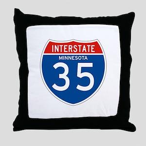 Interstate 35 - MN Throw Pillow