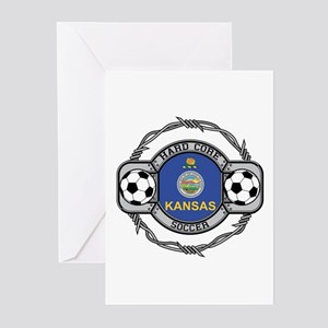 Kansas Soccer Greeting Cards (Pk of 10)