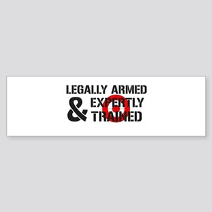 Legally Armed Expertly Trained Sticker (Bumper)