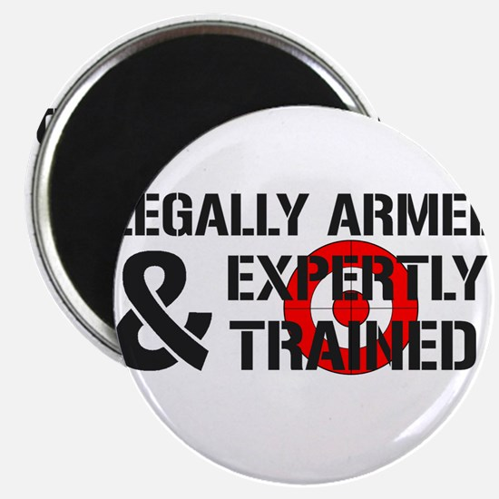 """Legally Armed Expertly Trained 2.25"""" Magnet (100 p"""