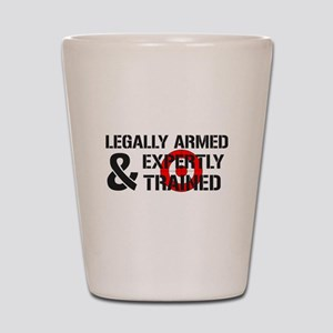 Legally Armed Expertly Trained Shot Glass