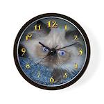 Blue-Eyed Himalayan Kitten Wall Clock
