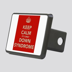 Kee Calm It's Only Down Syndrome Rectangular Hitch