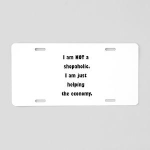 Shopaholic Aluminum License Plate