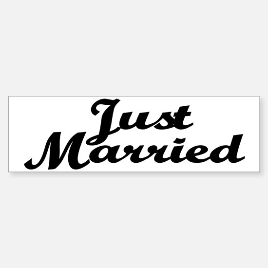 Just Married Bumper Bumper Bumper Sticker