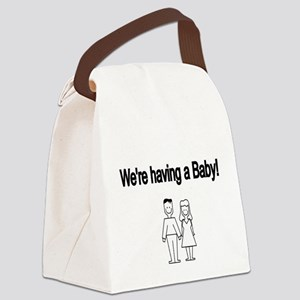 Were having a Baby Canvas Lunch Bag