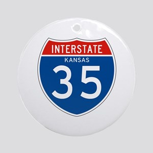 Interstate 35 - KS Ornament (Round)