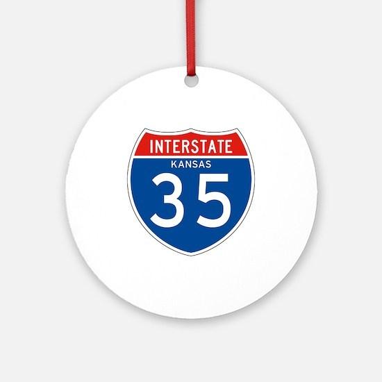 Interstate 35 - KS Ornament (Round)