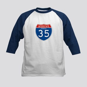 Interstate 35 - KS Kids Baseball Jersey