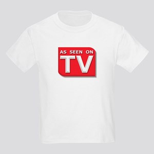 Funny As Seen on TV Logo Kids Light T-Shirt