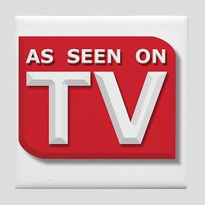Funny As Seen on TV Logo Tile Coaster