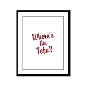 Wheres the Tofu? Framed Panel Print