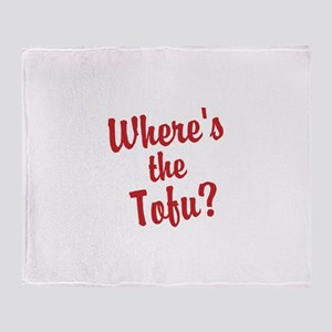 Wheres the Tofu? Throw Blanket