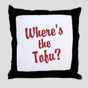 Wheres the Tofu? Throw Pillow