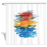 Atom Sea #21 Shower Curtain