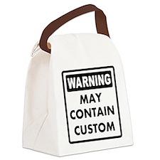 Custom Warning Sign Canvas Lunch Bag