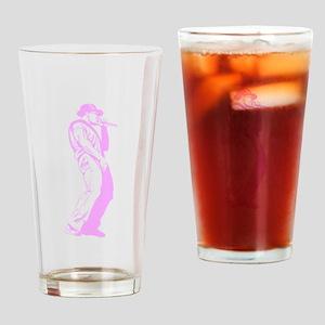 Pink Old School MC Drinking Glass
